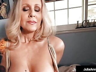 Watch Busty Beautiful Cougar Julia Ann Gets Dick Drilled In POV!