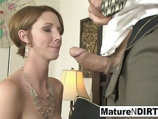 Watch Busty MILF accountant fucks her favorite client