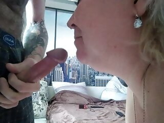 Watch powerful cumshot in the mouth