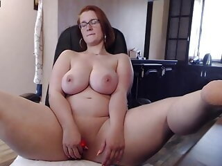 Watch Chubby German woman caresses her pussy